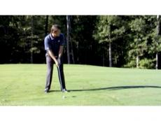 Nick Faldo gives some swing advice