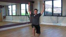 Lunge with arms overhead